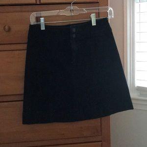 Universal Thread Black Denim Skirt